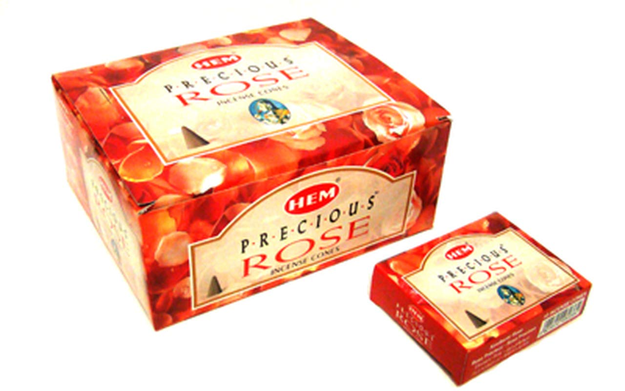 10 Cones Each Case of 12 Boxes Red Rose HEM Incense From India
