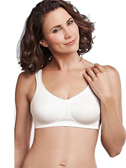 Mona Non-wired Bra - Pocketed Mastectomy Bra - White 32AA to 42B (606)  (36B)  Amazon.co.uk  Clothing 8d26595f5