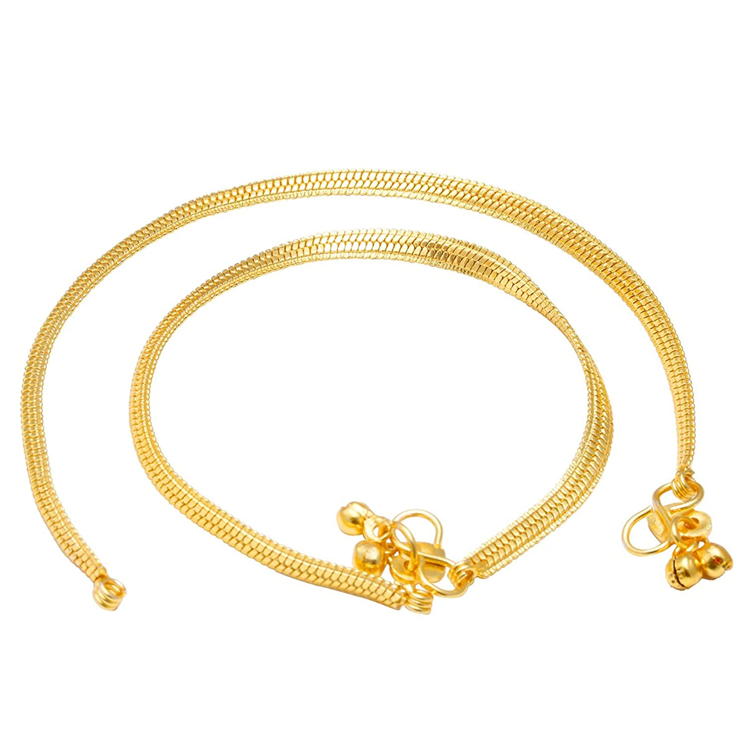 chain store online design plated for low buy amazon ghungroo in gold women at dp memoir prices india jewellery anklet flat designer snake