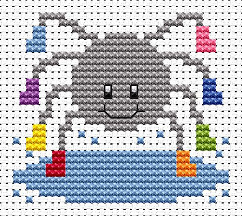 Sew Simple Spider Cross Stitch Kit by Fat Cat Cross Stitch
