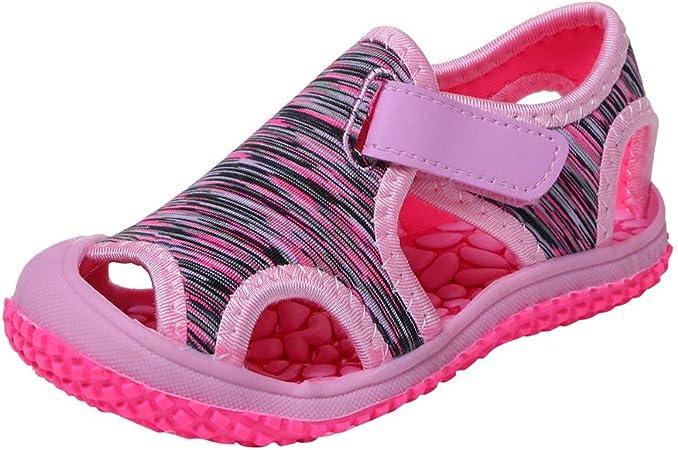 LUCOG Chaussures Enfant 28, Chaussures Premiers Pas Été ? Bébé Filles Garçons Plage Antidérapant Extérieur Sneakers Sandales Chaussures Enfants 5.5 6
