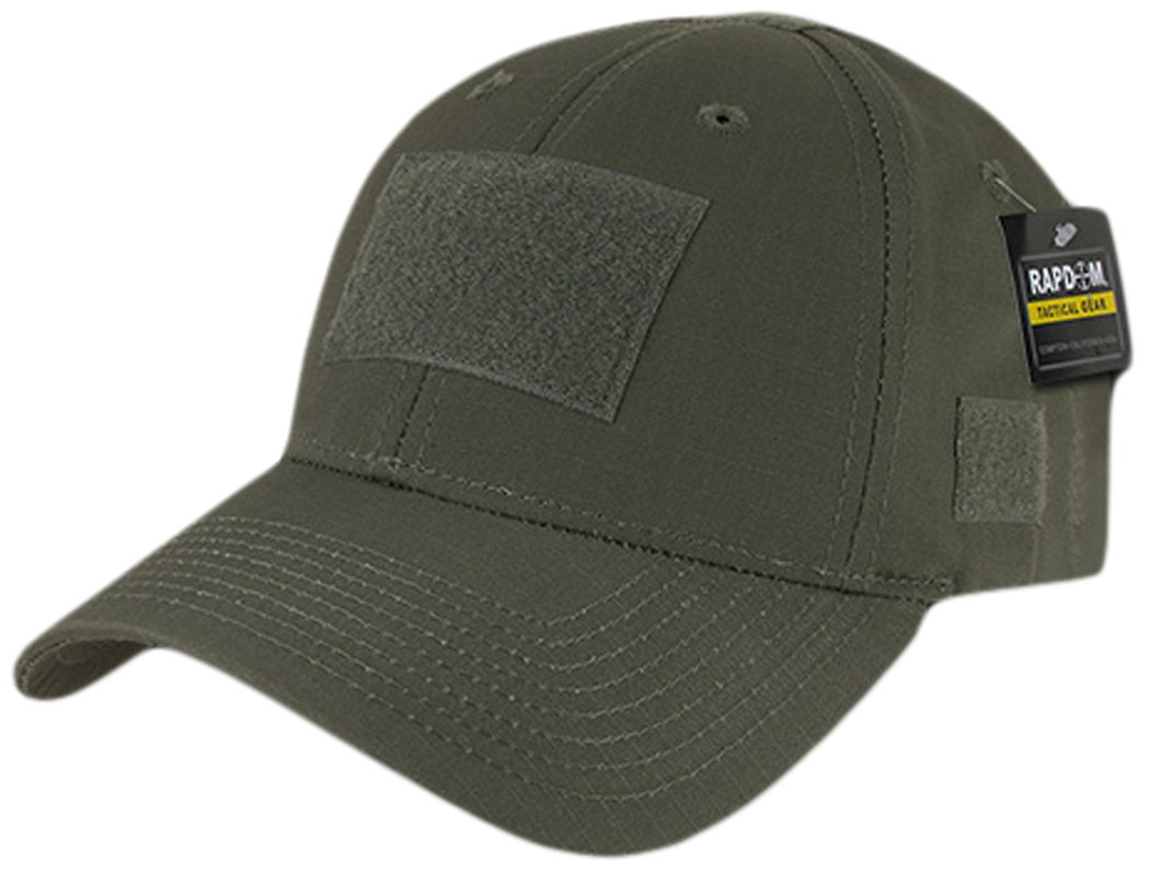 Rapdom Tactical T77-OD Ripstop Operator Cap, Olive Drab, Olive Drab Olive Drab Rapid Dominance