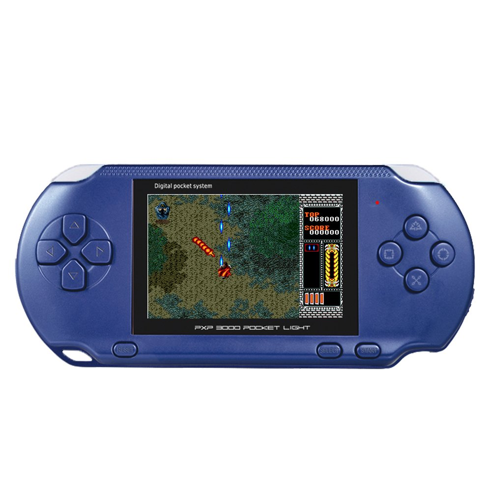 Huongoo Handheld Game Console, Retro Game Console with 140 Classic Games 2.8 inch LED Screen Portable Game Console, Good Gifts For Children,For Kids to Adult (Navy Blue)