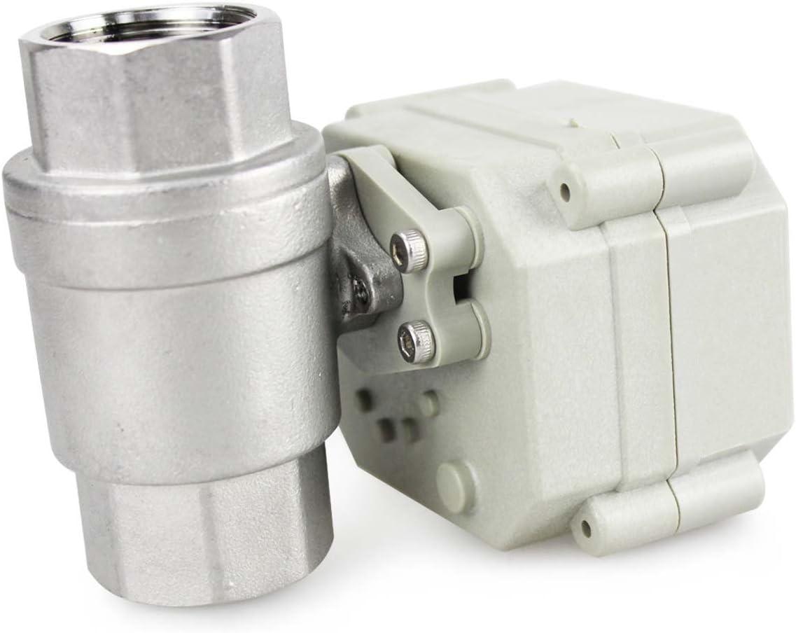HSH-Flo 2 Wege 12V//24V AC und DC Auto-R/ückkehr Position Feedback Motorkugelhahn Elektrische Zonenventil 1 DN25