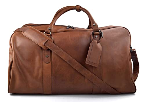 Bolsa de viaje de cuero maleta de cuero equipaje de mano ...
