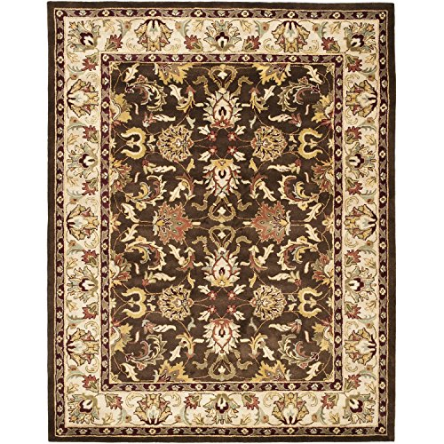 Safavieh Heritage Collection HG818A Handmade Traditional Oriental Brown and Beige Wool Area Rug (5′ x 8′)