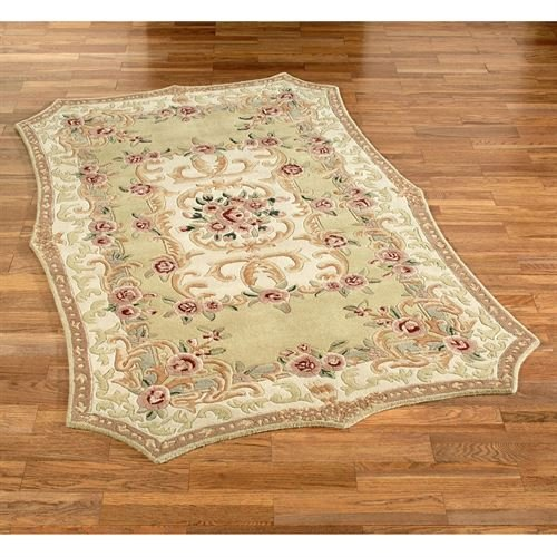 Vintage Aubusson Area Rug Cream