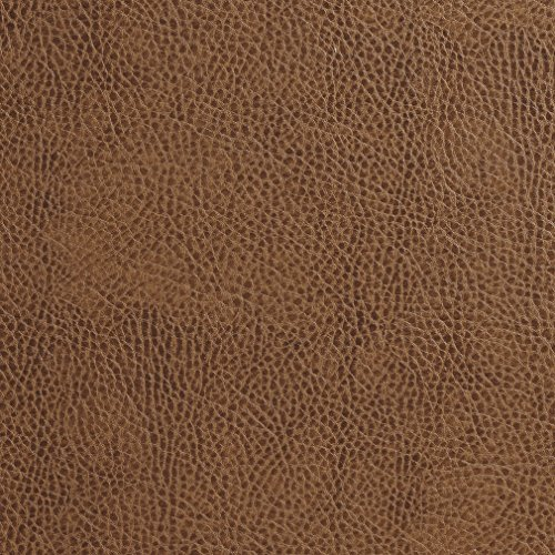 (Sandalwood Brown Animal Hide Stressed Texture Plain Recycled Leather Automotive Vinyl Stain Resistant Upholstery Fabric by the yard)