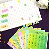 LeeLoon 40 Sheets Index Tabs Reminder Stickers