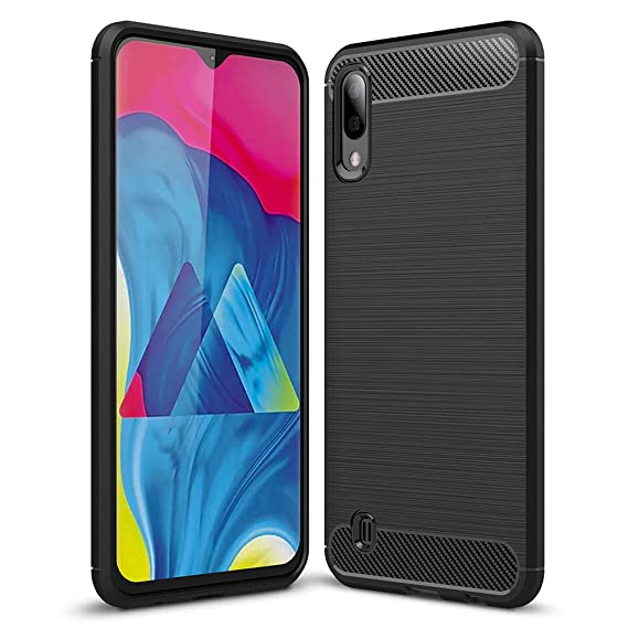 ba9aa943e Samsung Galaxy M10 Case,Galaxy A10 Case,PUSHIMEI Soft TPU Brushed  Anti-Fingerprint