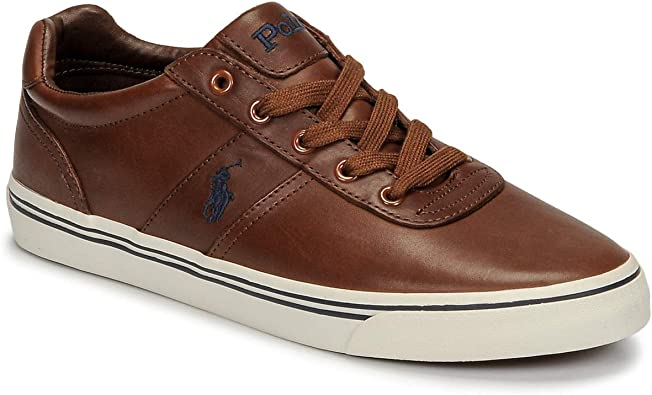 Polo Ralph Lauren, Hanford Leather Tan, Zapatillas para Hombre, 42