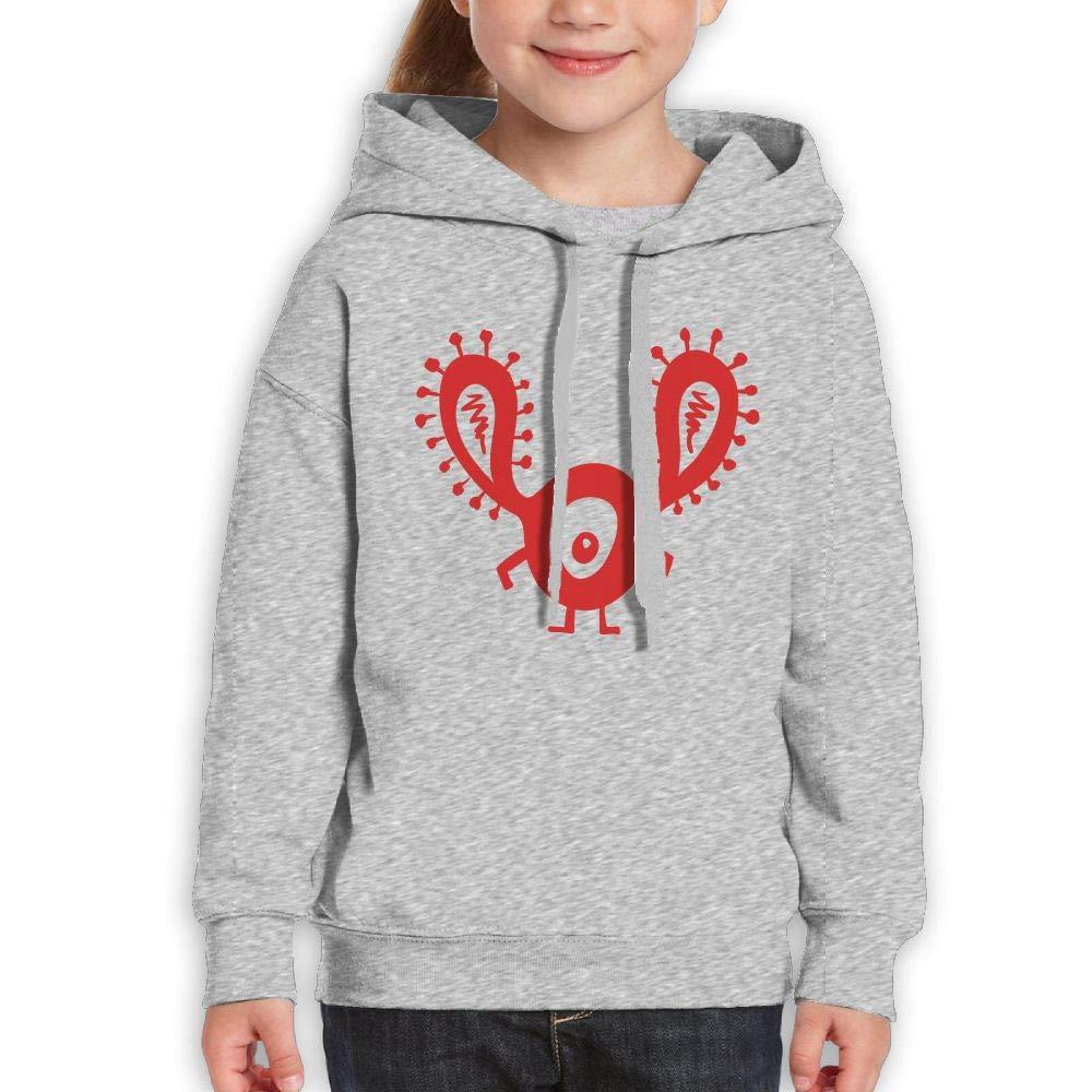 Funny Red One Eye Monster Kids Hoodie Print Long Sleeve Sweatshirt Girls'