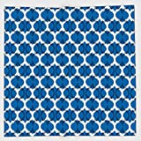 Cotton Microfiber Hand Towel,Ikat Decor,Ethnic Wild Round Ikat Design Traditional Tribal Exotic Oriental Islamic Art Decor,Dark Blue White,for Kids, Teens, and Adults,One Side Printing