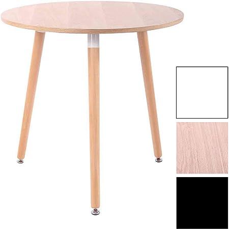Clp Table De Cuisine Design Retro Ansgar I Table D Appoint Ronde Avec 3 Pieds En Bois Diamètre 80 Cm Hauteur De La Table 75 Cm I Couleur Nature