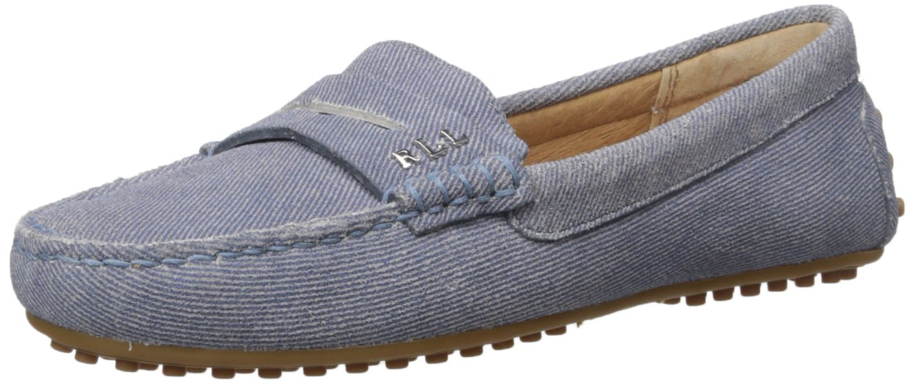 Lauren by Ralph Lauren Women's Belen Driving Style Loafer B01LWW2M6W 5 B(M) US|Blue