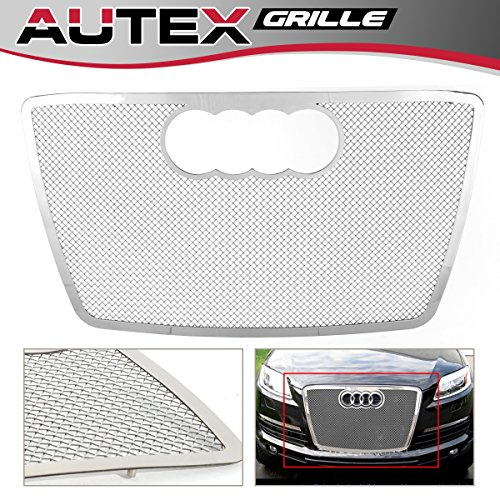 AUTEX Chrome Stainless Steel Mesh Grille Insert Compatible With 2007 2008 2009 Audi Q7 Grill B75537T (Chrome Stainless Steel Mesh Grille)
