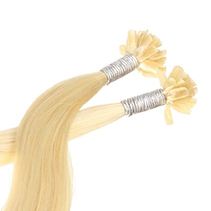 Just Beautiful Hair U-tip Mechones Cabello Auténtico Remy India con Uniones Queratina 30cm -