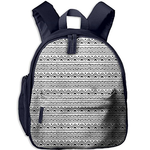 Weiheiwec 9 Ethnic Native Aztec Hand Drawn Sketchy Image With Geometric Triangle Borders Boys Girls 3D Printed Backpack Navy - Kid Drawn Border