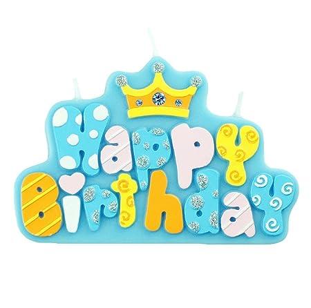 Leisial Letra Happy Birthday Velas para Recordatorios Vela ...