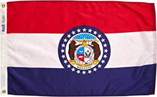 product image for Annin Flagmakers Model 142950 Missouri Flag Nylon SolarGuard NYL-Glo, 2x3 ft, 100% Made in USA to Official State Design Specifications