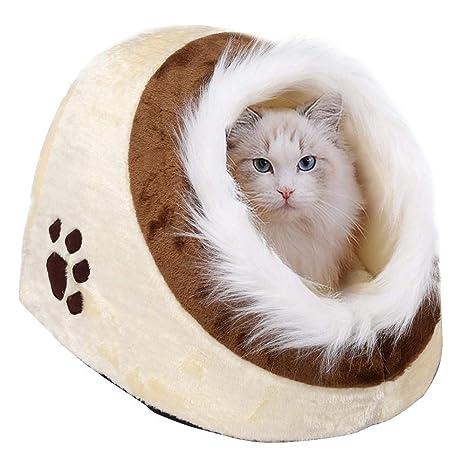 Popamazing - Cama de tipo iglú para mascotas, para perros pequeños y gatos