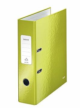 Leitz, Archivador de Palanca, Verde Metalizado, A4, Lomo de 8 cm ancho, 180° WOW, 10050064: Amazon.es: Oficina y papelería