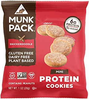 product image for Munk Pack Mini Protein Cookies, Snickerdoodle, 8 Pack, 6 Grams of Protein, Cookie Snack Pack, Vegan, Gluten Free, Dairy Free, Soy Free, Chewy
