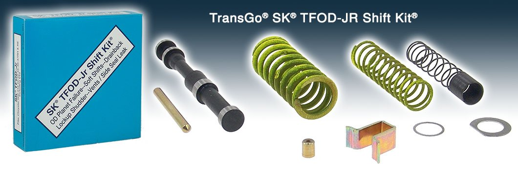 Transgo SK TFODJR Shift Kit (Gas) w/ & w/o Transmaxx