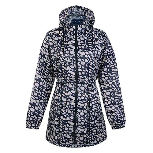 Printed Festival Emma Jacket Hooded Raincoat Kagool Days Pebble Women's Fashion Ladies Showerproof Mac Lightweight Rainy Saqw0ZHy8