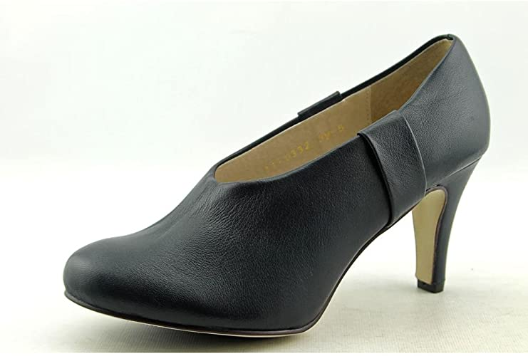 BLACK Mod Heel Pumps Heels Shoes Womens