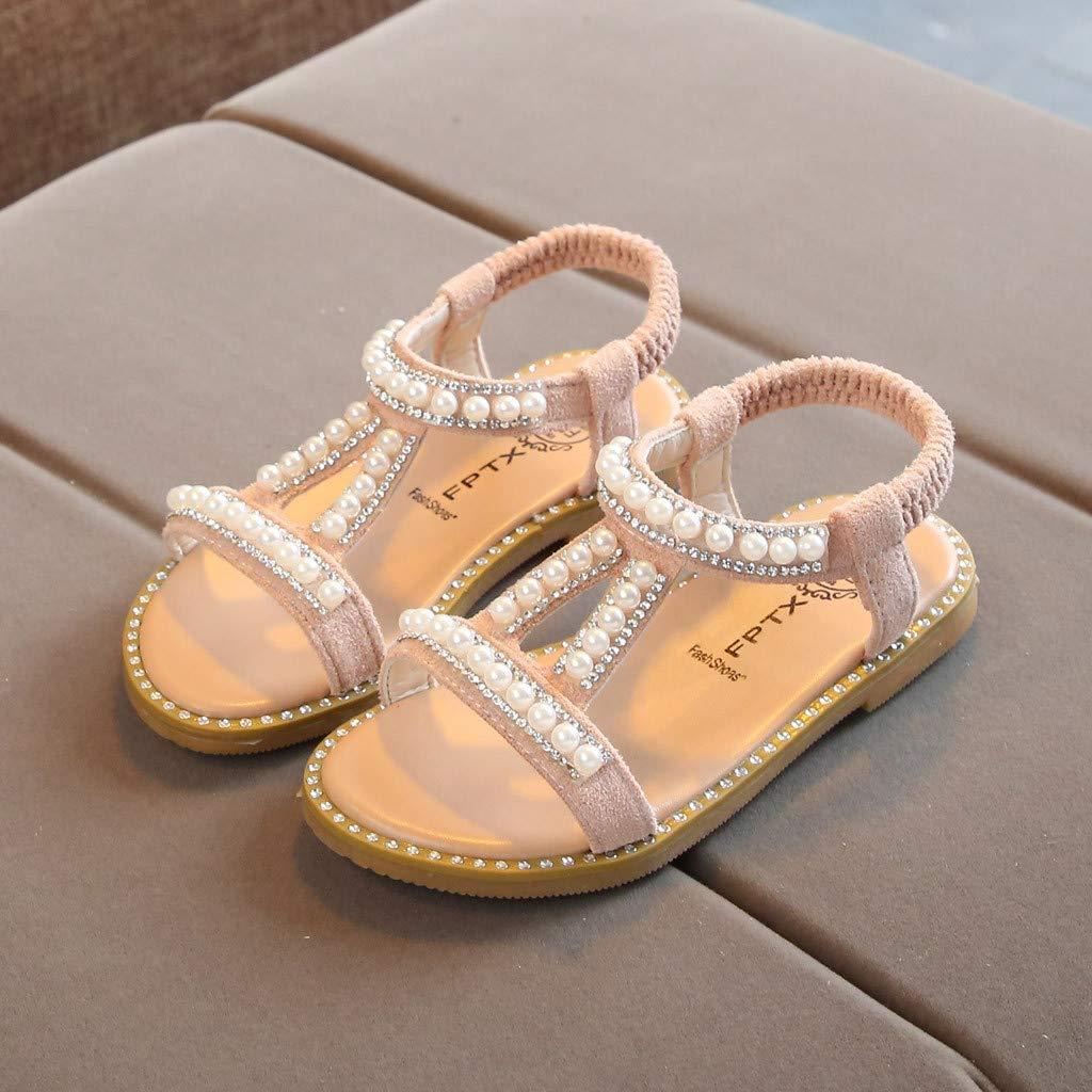 Chaussures Bebe Fille Cuir Souple Perle Ete Sandales Chausson Chaussures Premiers Pas pour B/éb/é Fille LEvifun Sandale de B/éb/é Fille