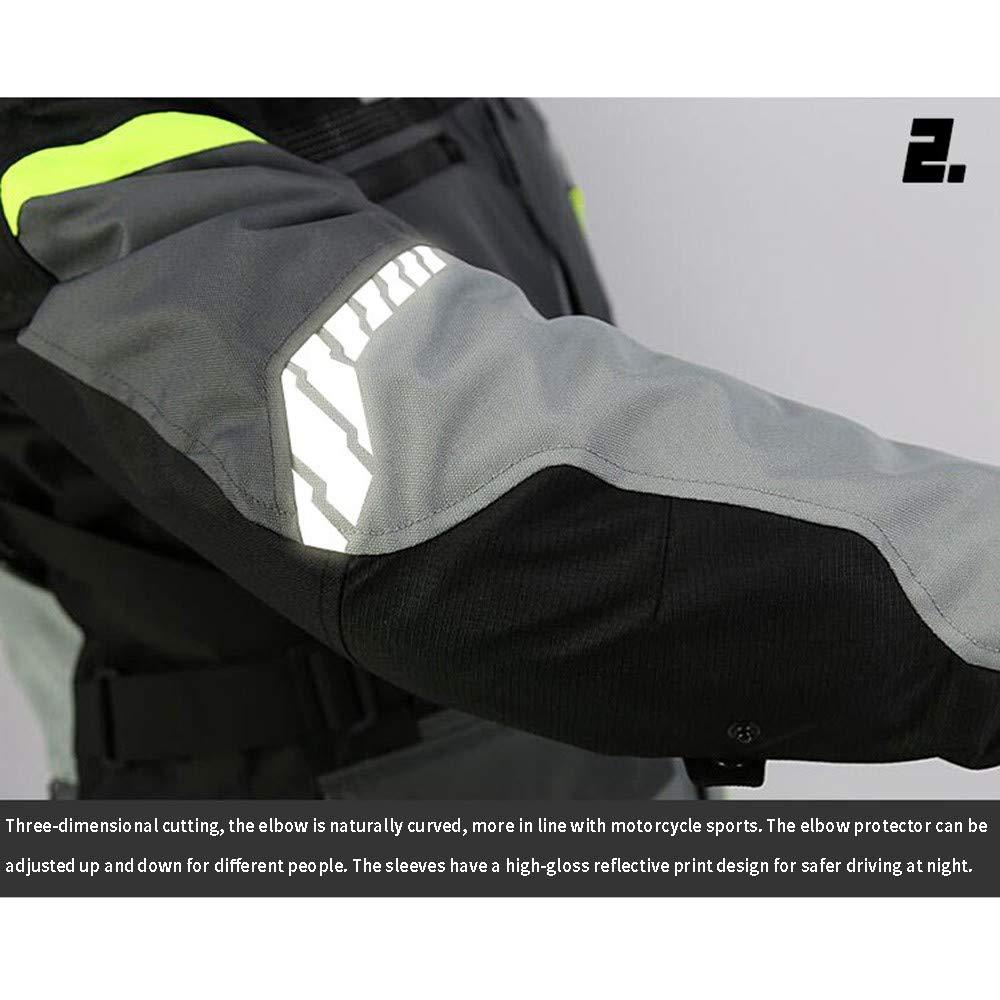 NUYAN Motorcycle jacketVeste de Protection Moto pour Hommes Quatre Poches Avant et Veste de Moto zipp/ée /étanche au Vent