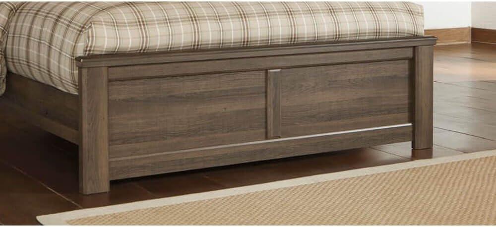 Ashley Furniture Signature Design - Juararo Queen Panel Footboard - Component Piece - Dark Brown