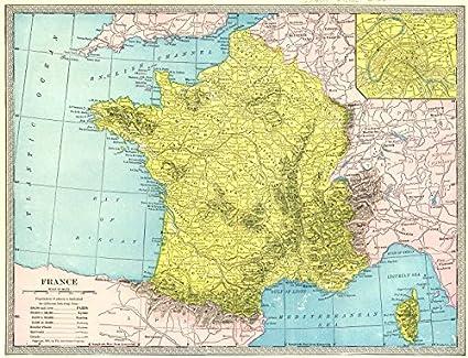 Amazon Com France Without Alsace Lorraine Paris Environs 1907