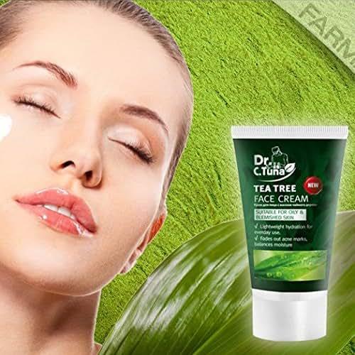 02 Tube50ml- KEM DƯỠNG ẨM HỖ TRỢ TRỊ MỤN DR. C.TUNA TEA TREE FACE CREAM - Acne cream Made in Thổ Nhĩ Kì