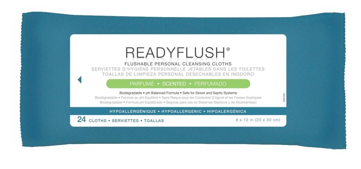 Medline MSC263810H ReadyFlush Biodegradable Flushable Wipes