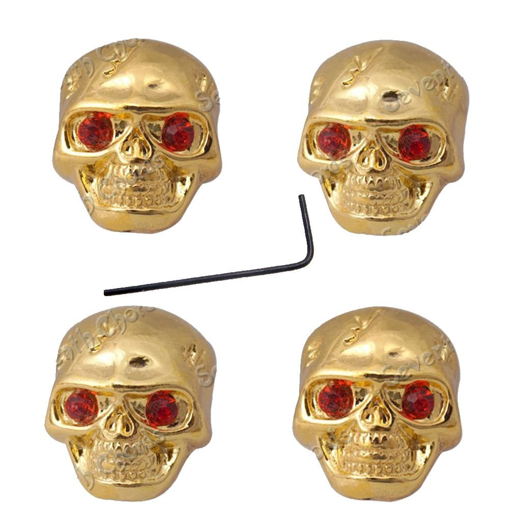 4 Pcs Metal Skull Head Volume Tone Control Knobs for Electric Guitar Bass Replacement Parts Black