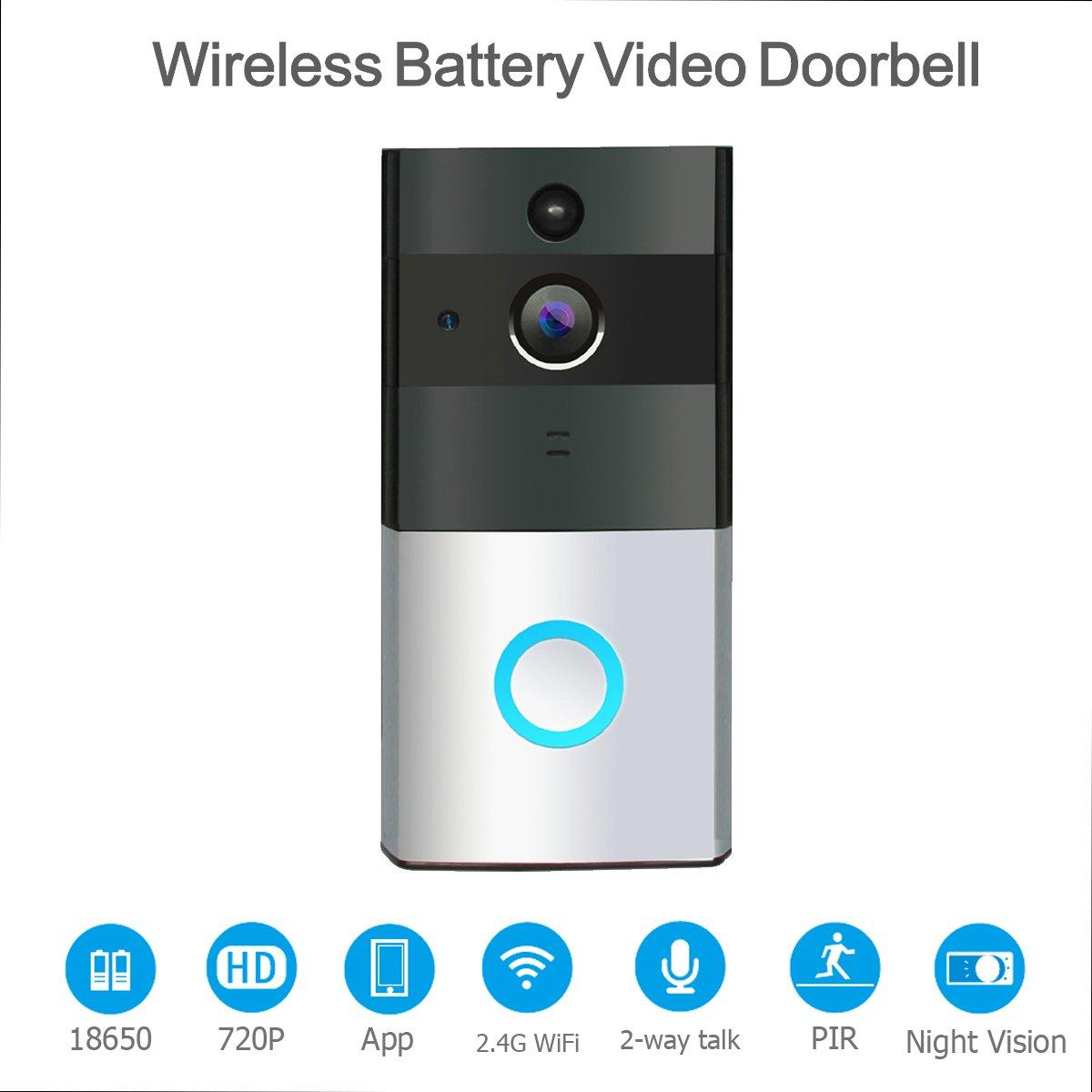 HOMSCAM Video Doorbell Wi-fi Enabled Wireless Door Bells with Two ...