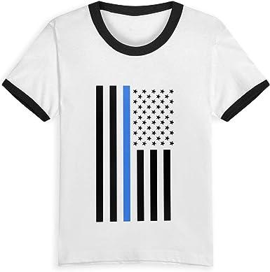 Queen Elena Playera Delgada Azul con Bandera de Estados Unidos, 2 – 6 años con Estampado de Dibujos Animados, Camiseta de Verano para niños y niñas Negro Negro (3 años: Amazon.es: Ropa y accesorios