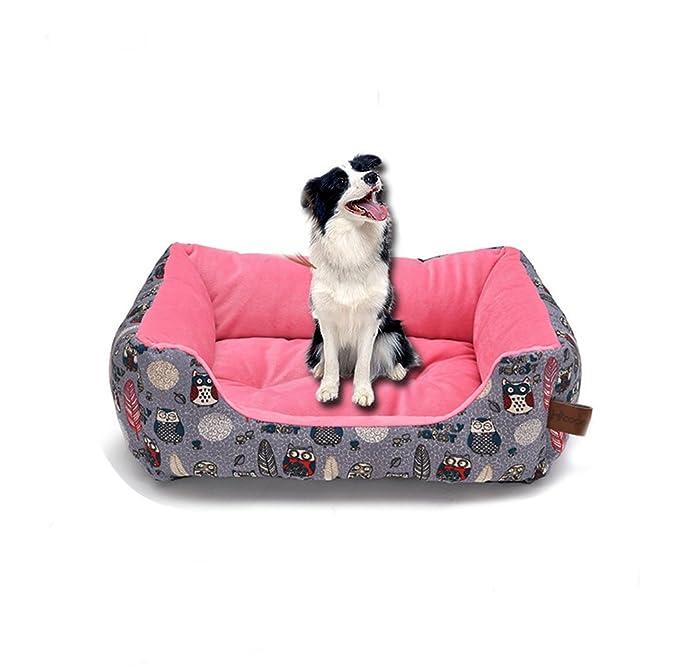 XSQRGG Cómodo Casa para Mascotas Cama para Perros Perrera Gato del Perro De Perrito Sofa House Bed,Pink,M: Amazon.es: Deportes y aire libre
