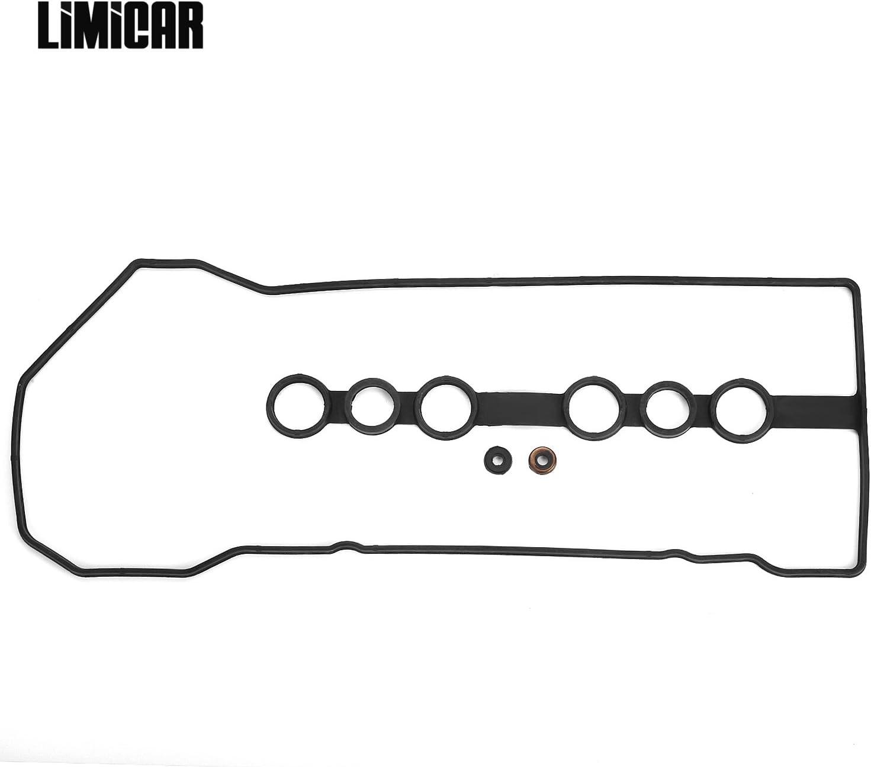 LIMICAR Cylinder Valve Cover Gaskets For 1998-2002 Chevrolet Prizm 2003-2008 Pontiac Vibe Toyota Matrix 2000-2005 Toyota Celica Toyota MR2 Spyder 1998-2008 Toyota Corolla 1.8L 1ZZFE