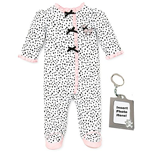 (Little Me Girl Footie Footed Sleeper Sleep N Play and Keychain Pink Poodle)