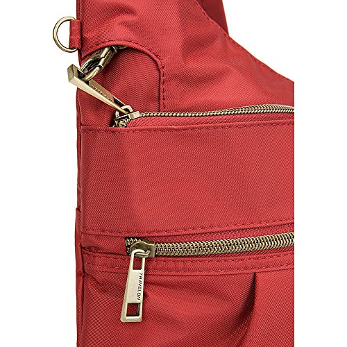 Travelon Anti-Theft Signature 3 Compartment Crossbody, Straight Pocket