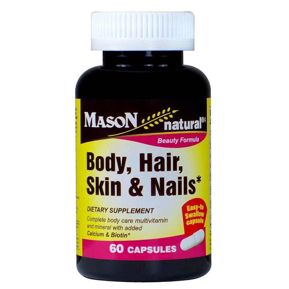 Mason Natural Body, Hair, Skin & Nails, 60 Capsules (Pack of 2)