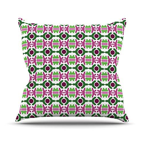 Kess eigene cr1019aop0318x 18Empire Ruhl Insel Träumen abstrakt Pink Grün Outdoor Werfen Kissen–mehrfarbig