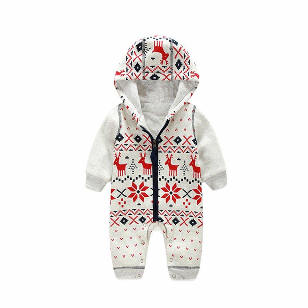 ZAMME Unisex Baby Romper Christmas Sweaters Coat Knitted Sweatshirt Jumper Suit Deer cnpkid298