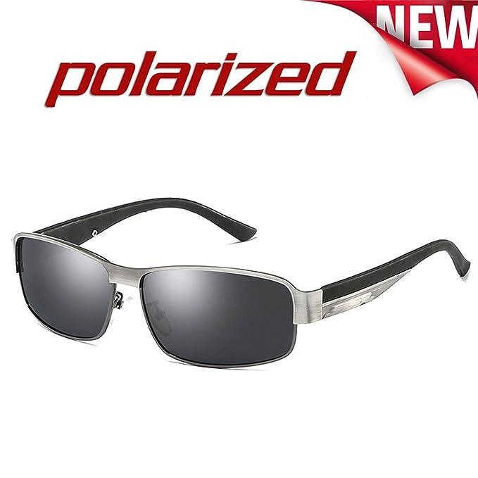 JULI Moda Polarizadas Gafas de sol Hombre Mujer Aleación Irrompible Marco 8485: Amazon.es: Ropa y accesorios