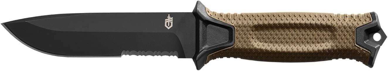 GERBER StrongArm Fixed Blade Knife with Serrated Edge - Coyote Brown