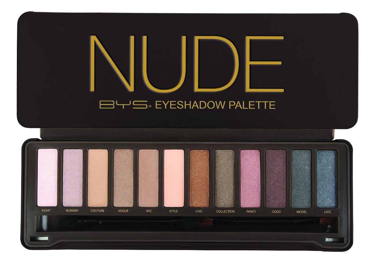 Bys 12 Color Eyeshadow Palette Nude 3 Ounce