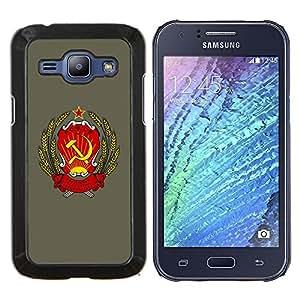 "Be-Star Único Patrón Plástico Duro Fundas Cover Cubre Hard Case Cover Para Samsung Galaxy J1 / J100 ( Rusia soviética URSS Símbolo Cartel sesión Arte"" )"